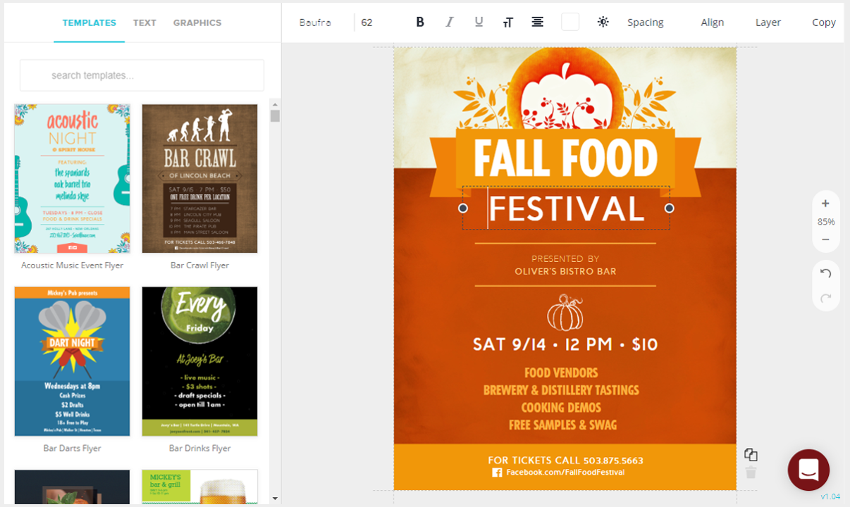 Create Restaurant Flyers