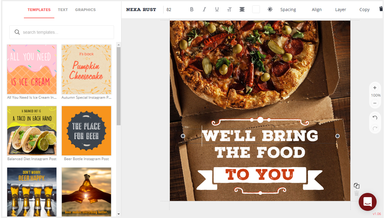 Create Restaurant Social Posts