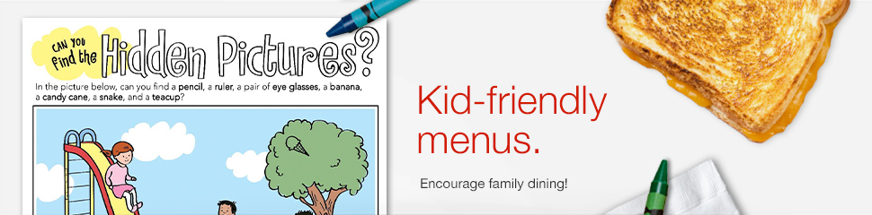 kids restaurant menus